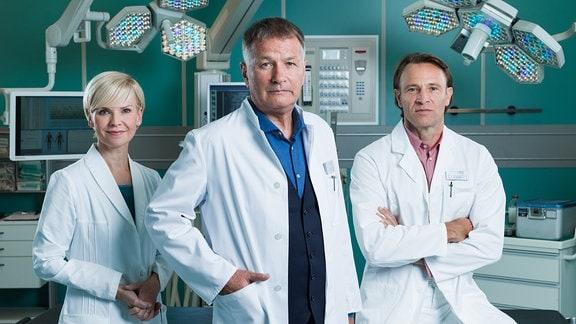 Dr. Roland Heilmann (Thomas Rühmann), Dr. Kathrin Globisch (Andrea Kathrin Loewig), Dr. Martin Stein (Bernhard Bettermann)  -> SM Rechte von Sven Jahny geprüft ...