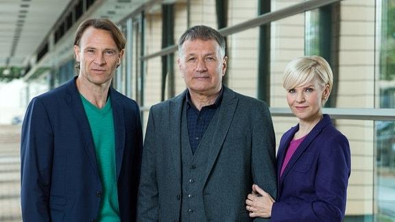 Dr. Martin Stein (Bernhard Bettermann), Dr. Roland Heilmann (Thomas Rühmann), Dr. Kathrin Globisch (Andrea Kathrin Loewig)