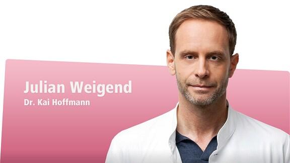 Julian Weigend spielt Dr. Kai Hoffmann, Chefarzt