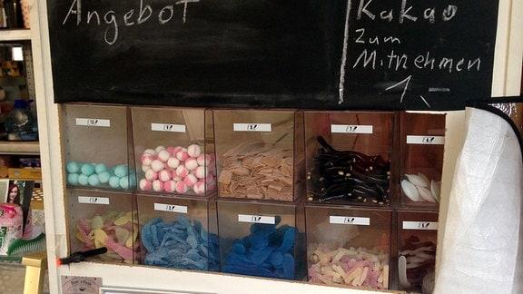 Süßwaren in einem Geschäft
