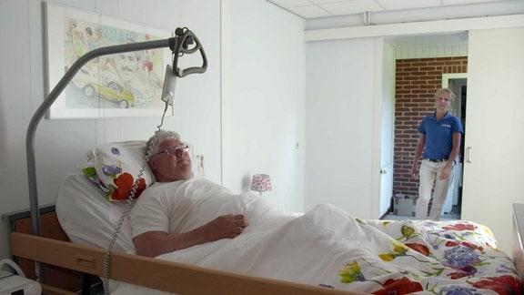 Hans Scholte wird zu Hause gepflegt.