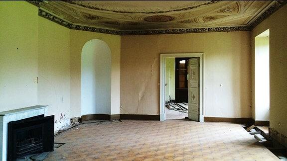 Ein Saal auf Schloss Reinhardsbrunn