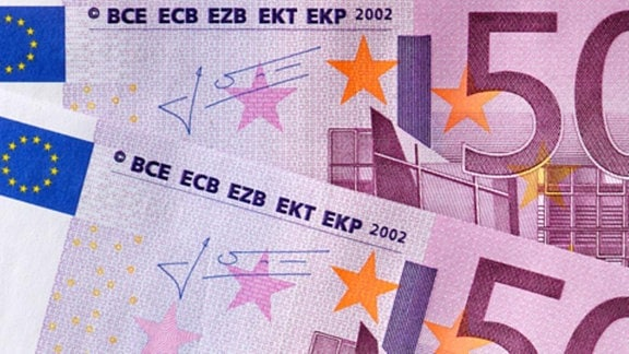 Zwei Geldscheine im Wert von 500 Euro.