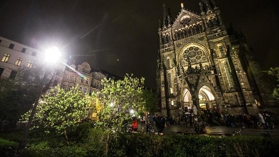 Nachtgesang in der Leipziger Peterskirche