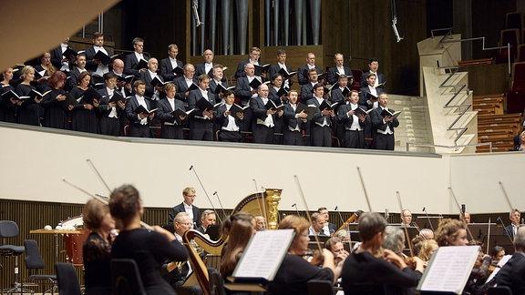MDR-Sinfonieorchester und MDR-Rundfunkchor beim Saisoneröffnungskonzert 2019/20 im Leipziger Gewandhaus