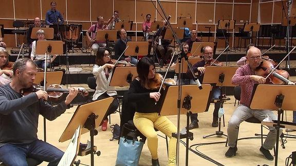 Das MDR-Sinfonieorchester probt.