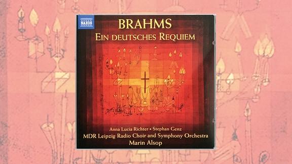 """Cover der CD """"Ein deutsches Requiem"""" mit den MDR-Ensembles unter Dirigentin Marin Alsop"""