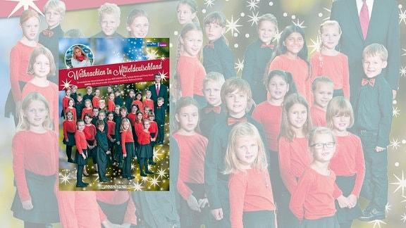 Cover der CD des MDR KINDERCHORES - Weihnachtslieder gesungen vom MDR KINDERCHOR, Prisma Vocale und Stefanie Hertel