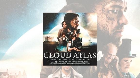 """Cover der CD """"Cloud Atlas"""" von Tom Tykwer, Johnny Klimek und Reinhold Heil, mit dem MDR-Sinfonieorchester und Dirigent Kristjan Järvi."""