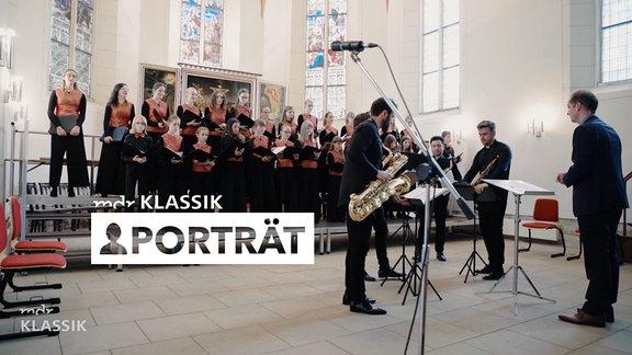 Porträt Saxofon Quartett