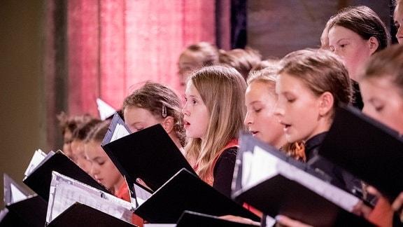 Der MDR-Kinderchor beim Konzert in Görlitz