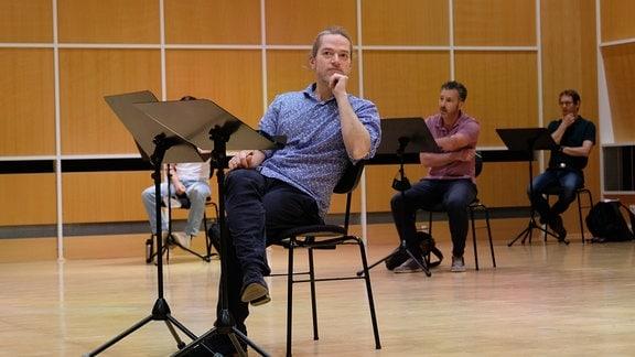 Dirigent Florian Helgath beim Dirigentenforum 2021.
