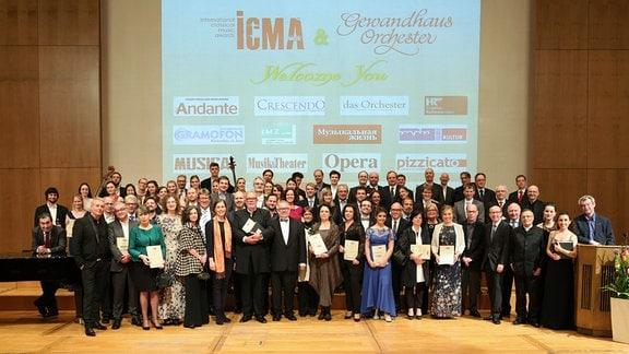 Preisträger des ICMA 2017 nach der Preisverleihung im Leipziger Gewandhaus