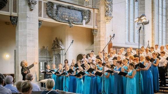 Konzert des MDR-Rundfunkchors beim MDR-Musiksommer im Dom zu Halle