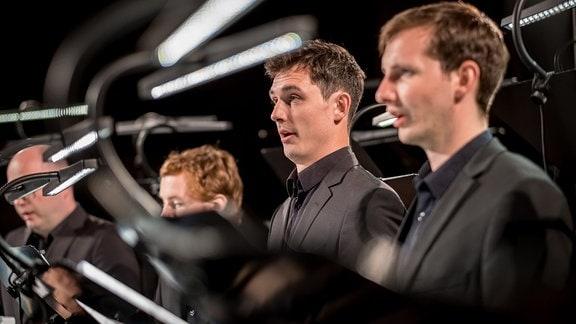 Die Herren des MDR-Rundfunkchors beim Konzert in der Leipziger Peterskirche