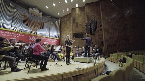 Das MDR-Sinfonieorchester bei einer Probe