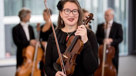 Monika Rietzschel, Mitglied im MDR-Sinfonieorchester