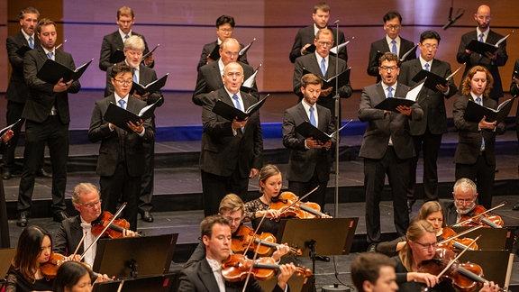 MDR-Sinfonieorchester und MDR-Rundfunkchor beim Abschlusskonzert des MDR-Musiksommers in Suhl