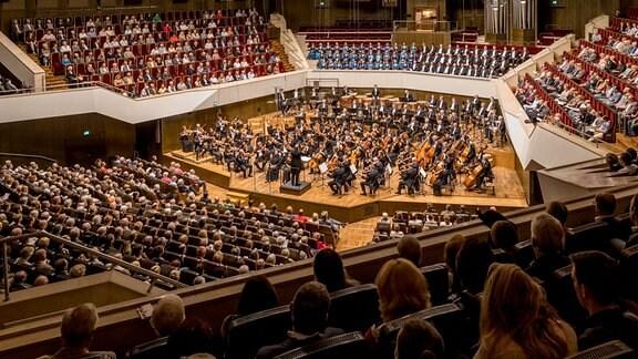 Saisoneröffnung 2018/19 mit MDR-Ensembles und Mahler-Programm im Leipziger Gewandhaus am 16.9.2018