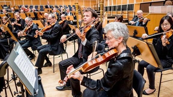 Das MDR-Sinfonieorchester probt im MDR-Studio am Augustusplatz