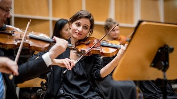 Das MDR-Sinfonieorchester im MDR-Studio am Augustusplatz