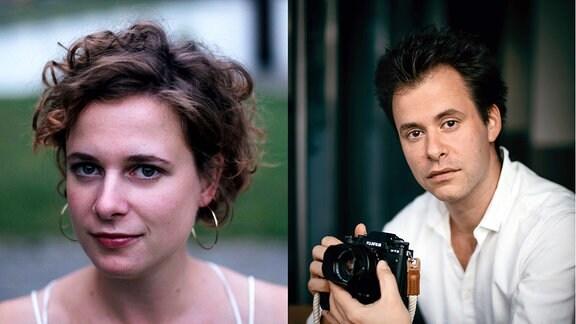Charlotte Krämer, die 1. Violine im MDR-Sinfonieorchester und Adam Markowski, 1. Violine im MDR-Sinfonieorchester