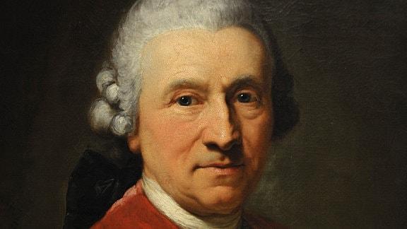 Conrad Ekhof, Porträt, gemalt 1774 von Anton Graff