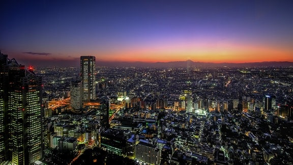 Hinter dem Fuji geht dir Sonne unter, Japan, Blog,Tokio