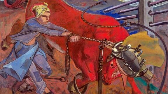 "Elisabeth Voigts Gemälde ""Der rote Stier""."