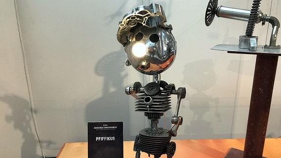 Metallskulptur Pfiffikus