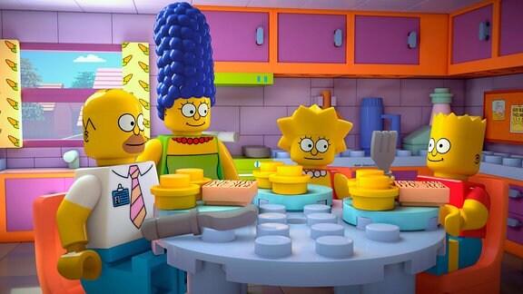 Simpsons aus Lego-Steinen