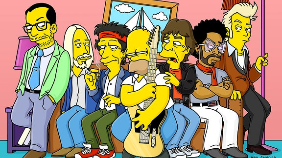 Elvis Costello, Tom Petty, Keith Richards, Homer Simpson, Mick Jagger, Lenny Kravitz & Brian Setzer