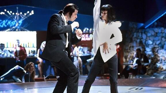 John Travolta und Uma Thurman in einer Szene aus Pulp Fiction