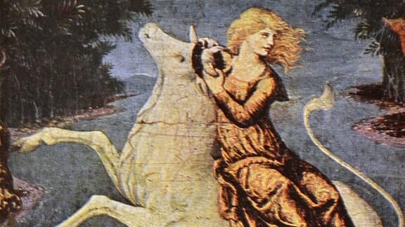 Rembrandts - Die Entführung Europas, sie wurde von Zeus in Form eines weißen Bullen entführt