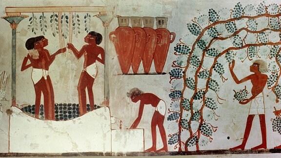 Wandzeichnung des alten Ägypten