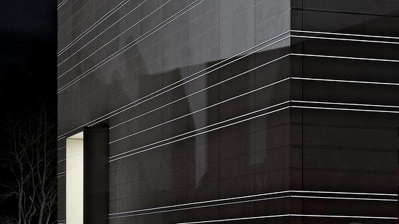 Das Bauhaus-Museum bei Nacht