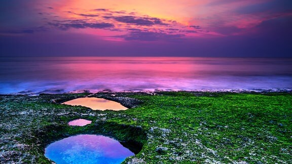 Bali bei Sonnenuntergang