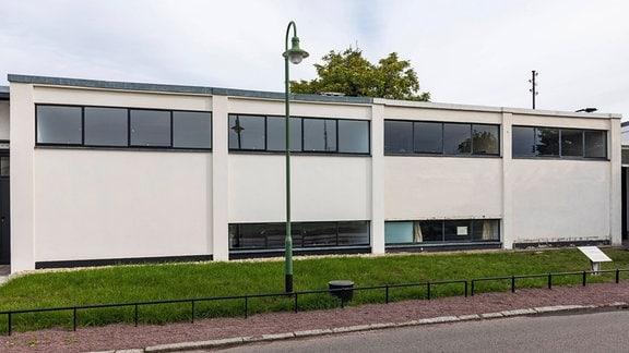 Moses-Mendelssohn-Zentrum, Reihenhaus in der Bauhaussiedlung, Dessau-Törten