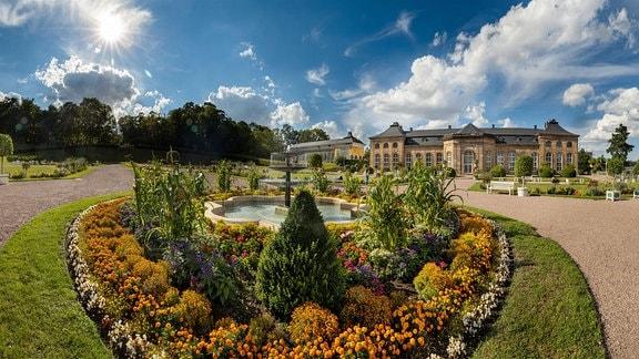 Orangerie Gotha - spätbarocke Gartenanlage im Schlosspark des Schlosses Friedenstein.