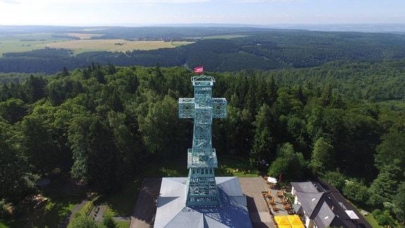 Das Josephskreuz im Harz ist ein Aussichtsturm auf der Josephshöhe Großer Auerberg bei Stolberg im Gebiet der Gemeinde Südharz