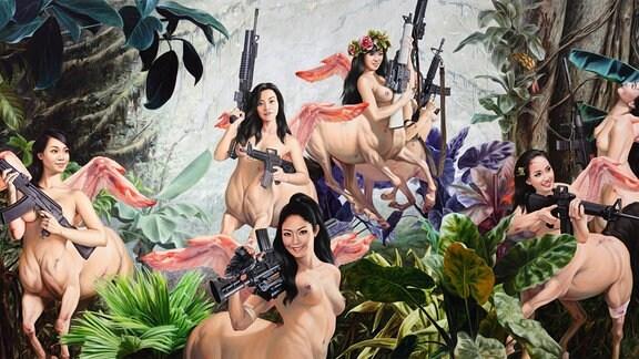 "Gemälde ""Ballett School"" von Nguyen Xuan Huy"