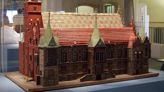 Modell des Rathauses von Krakau im Schlesien-Museum in Görlitz