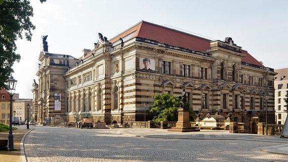 Albertinum Dresden, Blick von der Brühlschen Terrasse.