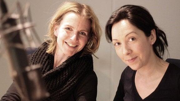 Moderatorin Annett Mautner mit Foodbloggerin Aurélie Bastian