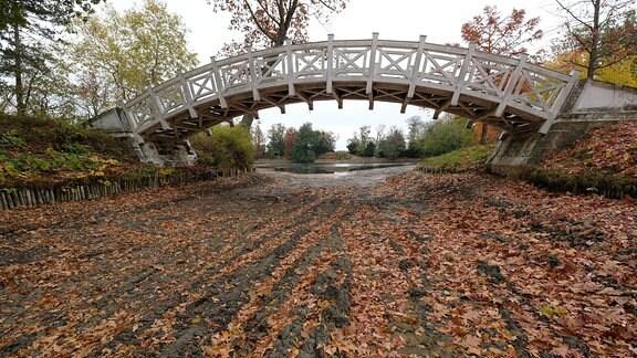 Die Weisse Brücke über den Wolfskanal.