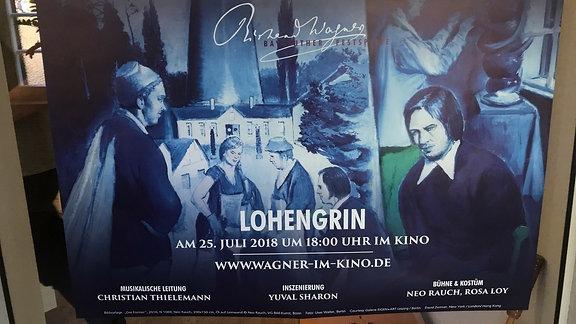 """Plakat """"Lohengrin"""" der Bayreuther Festspiele 2018"""
