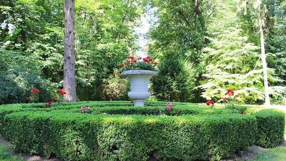 Park an der Orangerie in Bendeleben.
