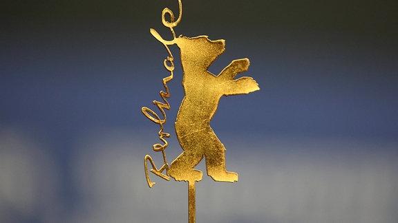 Das goldene Berlinale-Logo.
