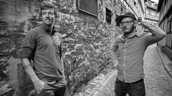 Eric Seehof (links) und Lukas Bergmann (rechts) von der Band Crepes Sucette