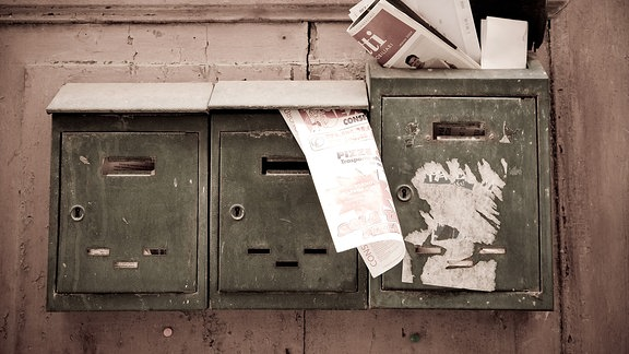 Alte Briefkästen